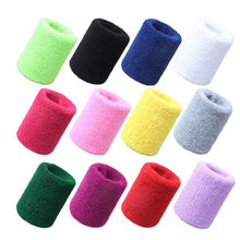 Cotton Wristbands Wrist Band Bands Sweatbands Sweat Band for Sport Tennis 5*8cm Fitness Accessories Sports protection munhequeir(China)