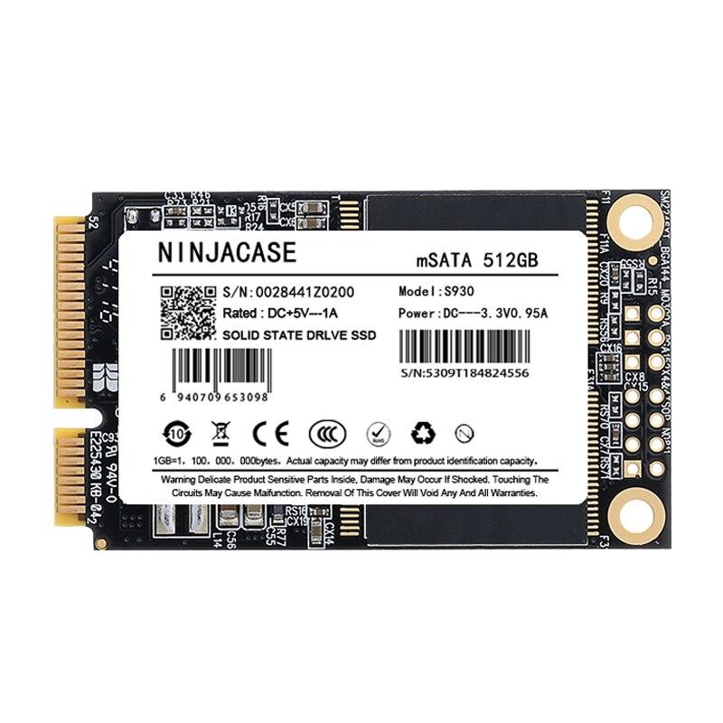 cheapest NINJACASE mSATA SSD 16GB 32GB 64GB 128GB 256GB  512GB 1TB Mini SATA Internal Solid StateHard Drive 32GB For Laptop Server