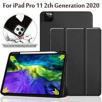 Case For iPad Pro 11 2020 2th Generation With Pen Slot Smart Cover Auto Sleep/Wake Case Funda|Tablets & e-Books Case| |  -