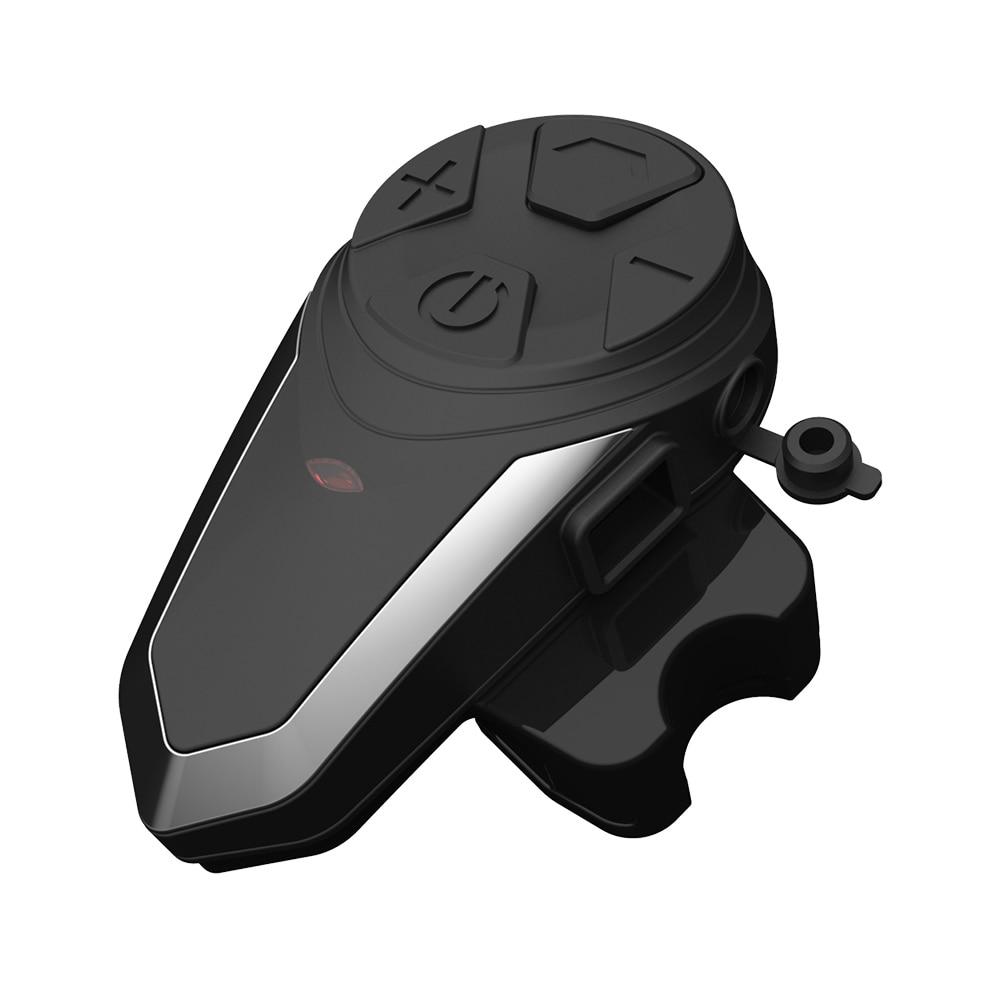 KKMOON 800m Motorcycle Bluetooth Helmet Intercom Headset MP3 FM Voice Command Wired To 2 Way Radio Handsfree BT Interphone