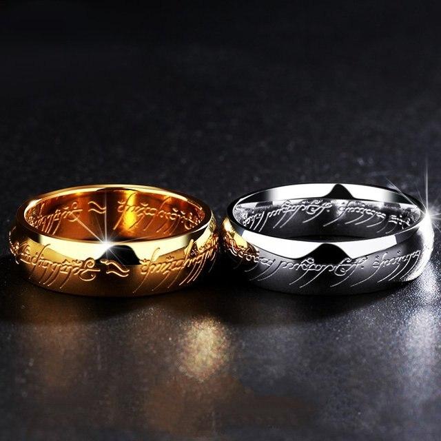 Bagues le seigneur des anneaux en titane 2