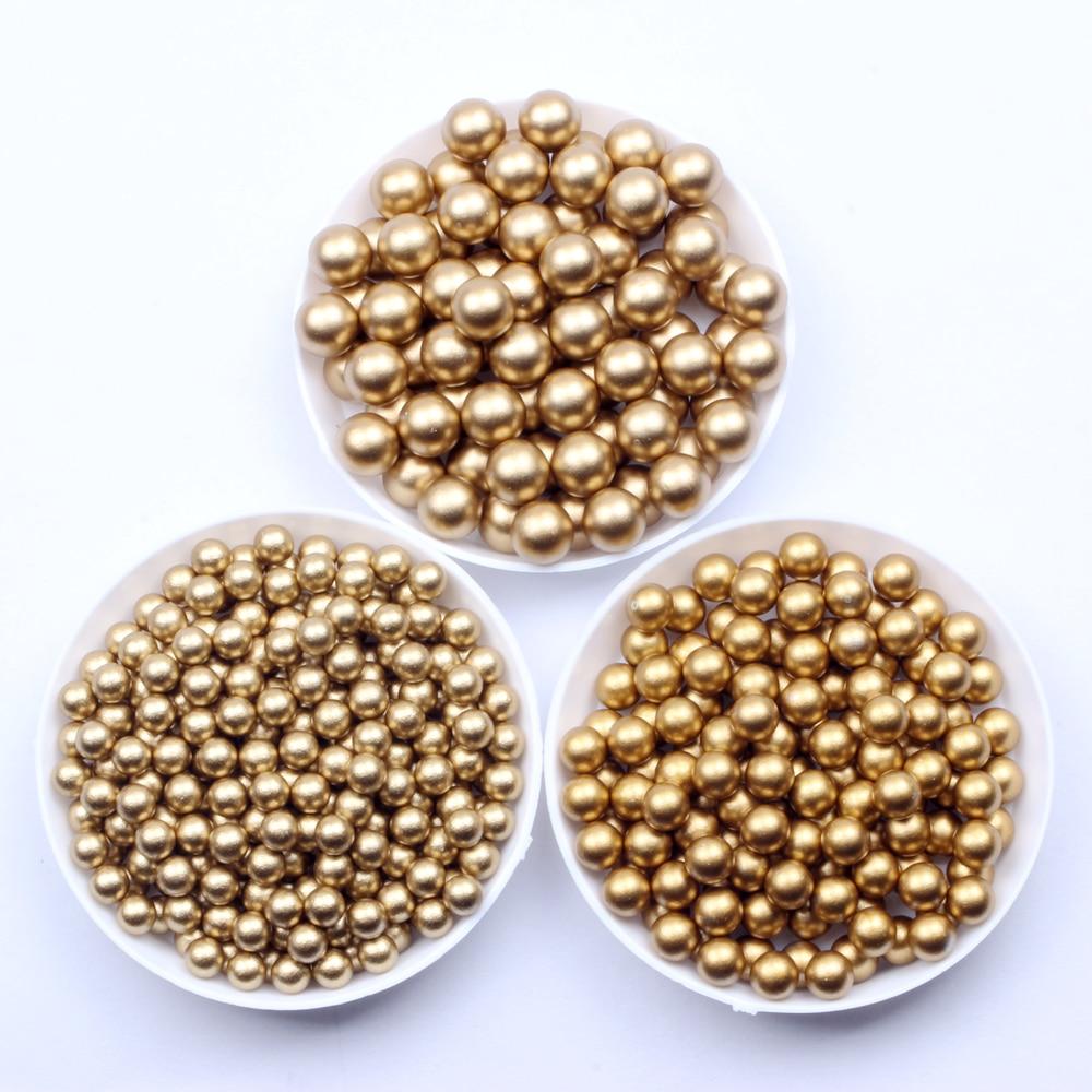Круглые бусины матовые, золотые, матовые, серебряные, 5, 6, 8 мм, классические жемчужины из смолы, без отверстий, имитация страз, используемые д...