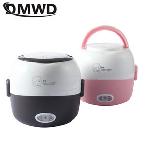 Image 5 - DMWD MINI Rice Cooker Thermal Heating Electric Lunch Box 2 Layers Portable Food Steamer Cooking Container Meal Lunchbox Warmer