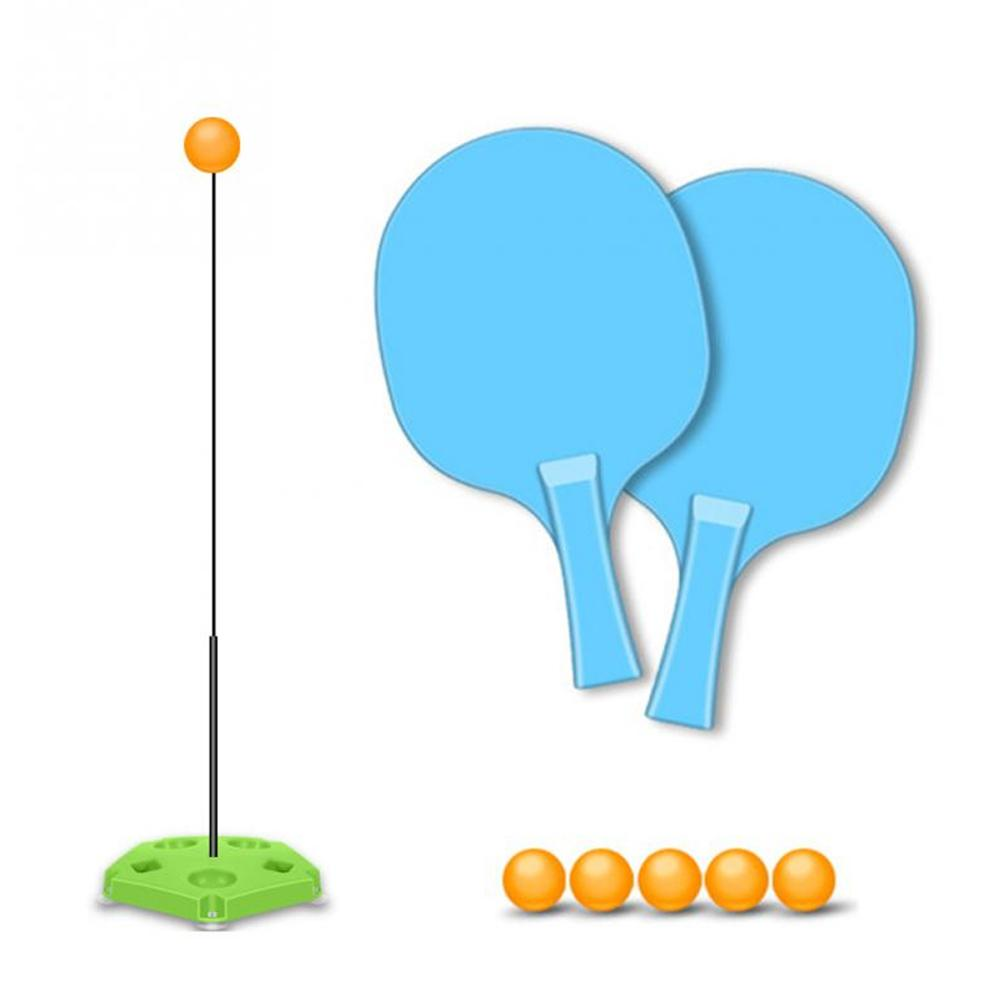 For Children Table Tennis Trainer With Elastic Soft Shaft Ping Pong Training Tools Indoor Or Outdoor Play Accessories