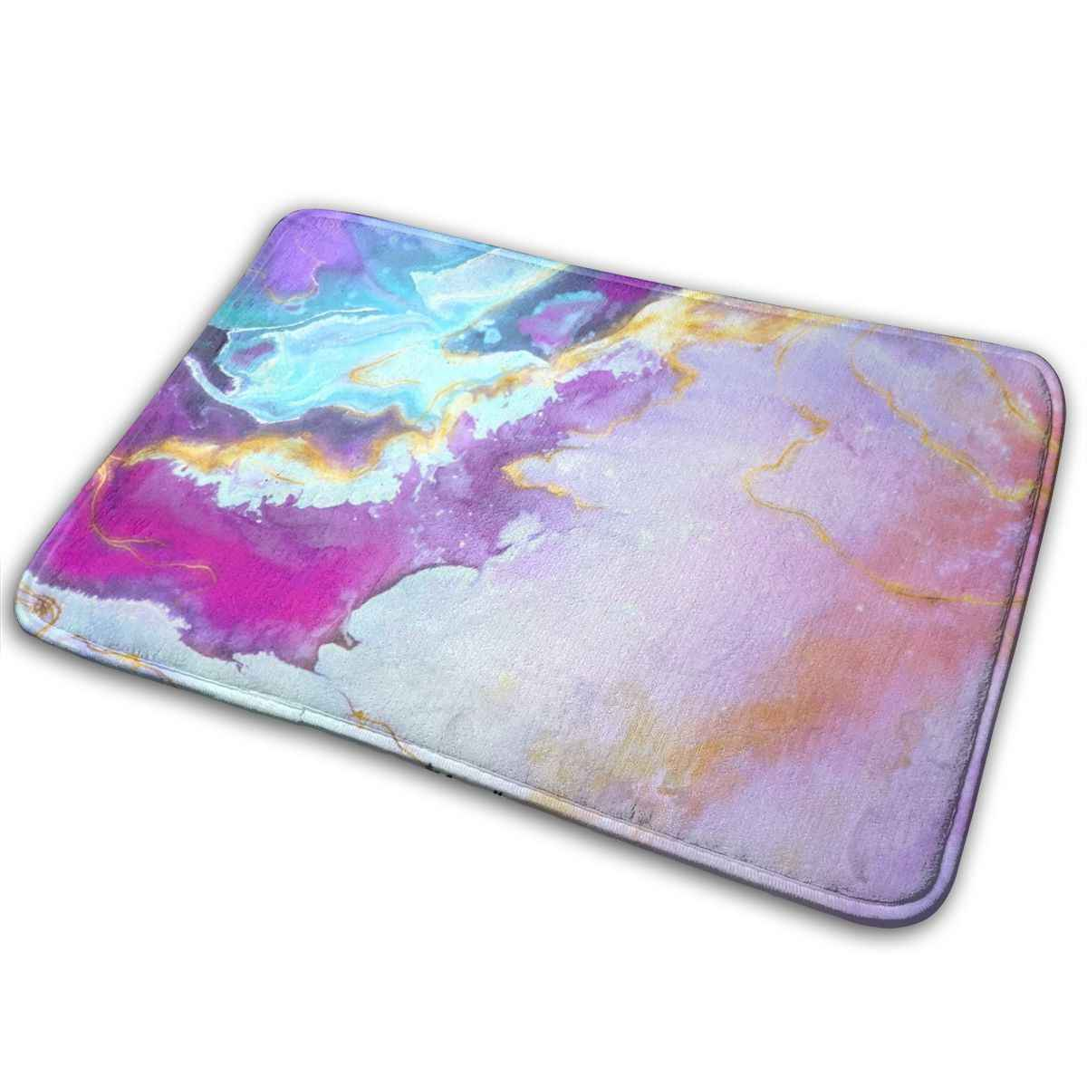 Purple Magic Marble Doormats For Entrance Way Entry Rug Non Slip Pvc Waterproof Backing Shoe Mat For Entryway Machine Washable Aliexpress