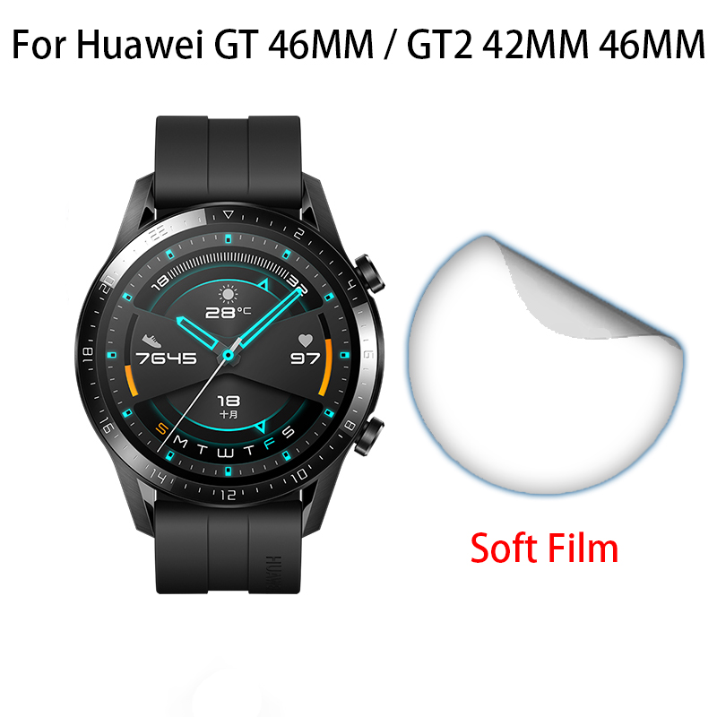 Soft TPU Anti-scratch Full Cover Protective Films For Huawei Watch GT GT2 42mm 46mm Gt Gt2 Sport Smart Watch Screen Protector