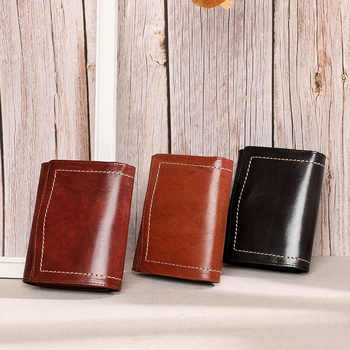 New Authentic Leather Retro Women\'s Wallet, Short, Multi-purpose Small Change, Fashionable Card Bag, Women\'s Bag. - DISCOUNT ITEM  20 OFF All Category