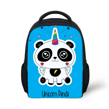 HaoYun Kindergarten Kids Backpack Panda Unicorn Pattern Babies School Book Bags Cartoon Anime Designer Boys Girls Small Bags girls panda pattern jumper