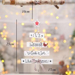 Рождественская елка, подвесные украшения, деревянный подвесной магазин, дверь, украшение, Рождество для домашнего декора, новый дизайн, мод...