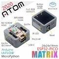 M5Stack официальный 2020 Новое поступление ATOM Matrix ESP32 PICO комплект разработки Arduino IMU датчик Python