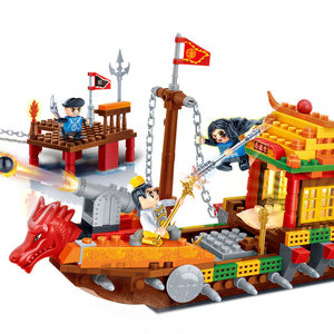 Image 4 - BanBao 中国風のカンフー寺チャイナ中国のドラゴン大砲アーキテクチャレンガ教育ビルディングブロックのおもちゃモデル