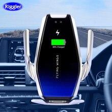مكثف فائق للسيارة 15 واط شاحن لاسلكي التلقائي تهمة سريعة جبل آيفون XS XR X سامسونج S10 +/10 S9/8 نوت 9