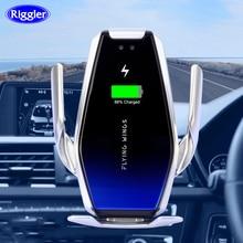 Siêu Tụ Điện Ô Tô 15W Sạc Không Dây Tự Động Sạc Nhanh Cho iPhone XS XR X Samsung S10 +/ 10 S9/8 Note9