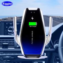 Super Capacitor Car 15W Wireless Charger Automatic Fast Charge Mount for Iphone XS XR X Samsung S10+/10 S9/8 Note9