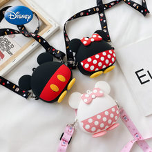 Disney Silicone Children's Bag Mickey Minnie New Messenger Bag Cartoon Cute Accessories Bag Silicone Coin Purse(China)