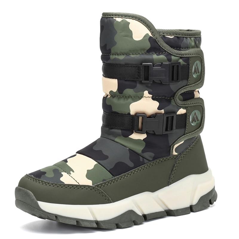 Обувь для мальчиков и девочек; уличные зимние детские ботинки; меховые ботинки; повседневная обувь на плоской подошве; зимние ботинки; детские ботинки до середины икры на плоской подошве; tenis infantil