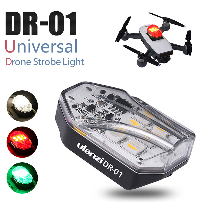 Ulanzi DR-01 Drone Light Red Green White Light Source Drone Warning Night Navigation Light For DJI Mavic Mini 360° Visible