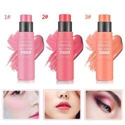 Mayjoy 3 couleurs maquillage visage Blush bâton longue durée naturel imperméable visage Blush soyeux crème poudre fard à joues T0935