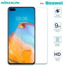 Nillkin para Huawei P40 Lite P30 P20 Protector de pantalla de vidrio templado de seguridad en Huawei Mate 30 20 X 20X Honor 30 30 30s 20 Pro