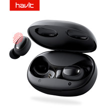 HAVIT I95 Touch Control Bluetooth Earphones Free Role Switch HD Stereo Wireless Earbuds Noise Cancelling Gaming Headset(China)
