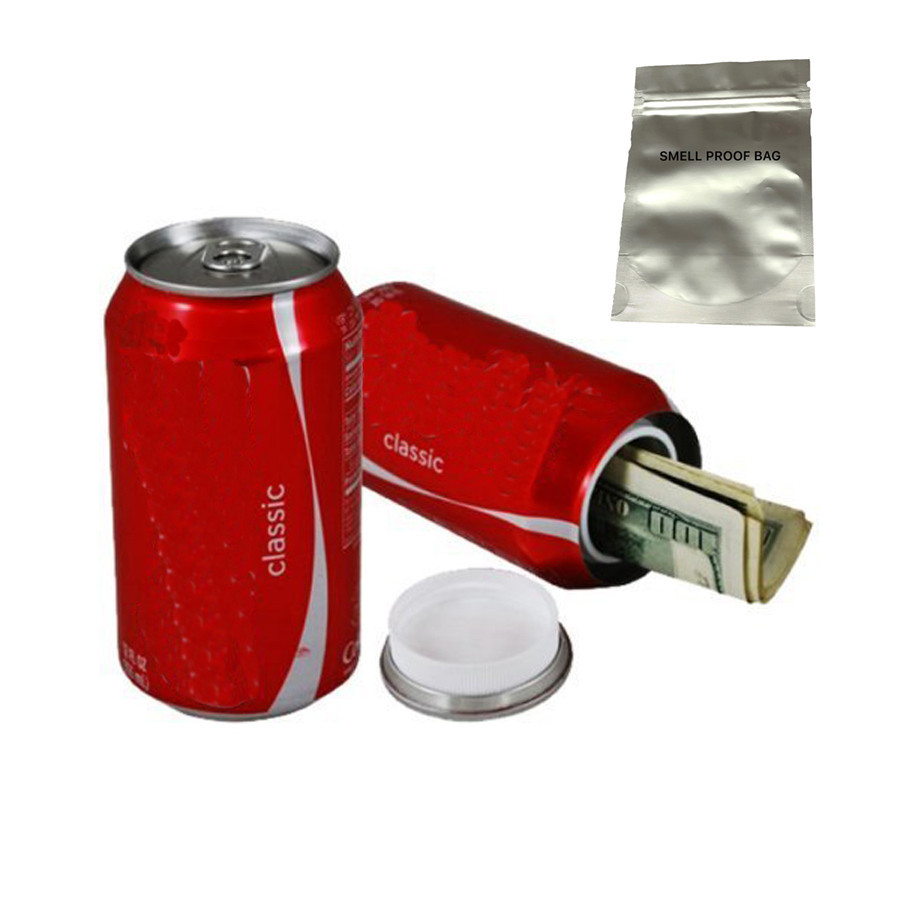 Stash Can Cola Safe Can Diversion Safe Hidden Box With A Food Grade Smell Proof Bag