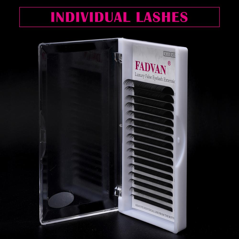 16 Rows False Eyelashes Extensions Lashes Eyelash Extension C D Curl Fadvan Natural Mink Eye Lashes Eyelashes For Building