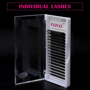 16 Rows False Eyelashes Extensions Lashes Eyelash Extension C D Curl Fadvan Natural Mink Eye Lashes Eyelashes For Building