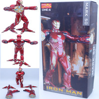 30cm Crazy Toys Iron Man MK50 1/6 Battering Ram Mark 50 Foot Clamps PVC Action Figure Model Toys Gifts