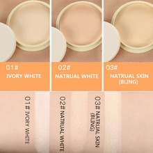 Natural Color Pressed Powder Sunscreen Face Silty Light Delicate Beauty Makeup Cosmetic Smooth Loose