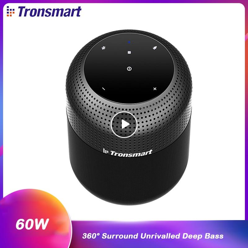 Tronsmart Element T6 Max 60W Wireless Waterproof Bluetooth Speaker with 360 Stereo Sound Deep Bass IPX5 NFC Home Theater Column