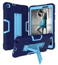 Nieuwe Armor Anti Klop Shockproof Hybrid Case Voor Samsung Galaxy Tab Een 8.0 2019 SM P200 SM P205 Tablet Beschermhoes + Film + Pen
