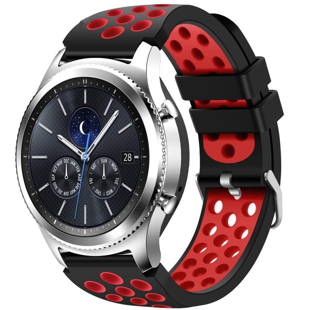 22mm Gear S3 Frontier For Samsung Gear S3 Frontier/Classic/Galaxy 46mm Silicone Band Replacement Strap Belt Bracelet Watchband