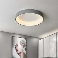 Lámpara Led de techo moderna para dormitorio, luz redonda para sala de estar con Control remoto, decoración para estudio y oficina, iluminación circular negra