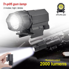Gun-Light Pistol Tactical-Flashlight Handgun Glock Weaver/picatinny-Rail LED 20mm 2000