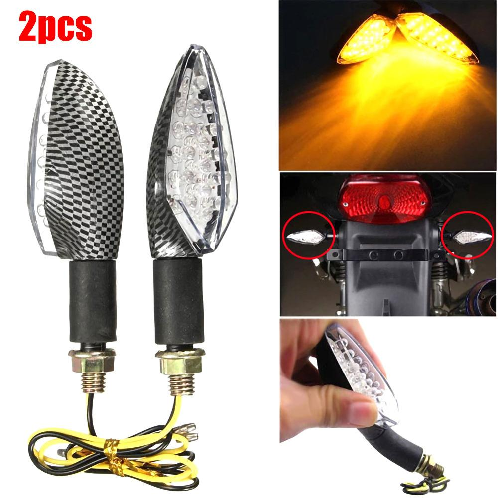 Universal 16 LED Amber 12V Motorcycle Turn Signals LED Light Flowing Water Blinker Flashing Indicator Tail Stop Signal Lamp 2Pcs