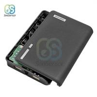 20000mAh 4x18650 cargador de batería de la caja de Banco de potencia funda, soporte USB Dual 4*18650 carcasa de la batería DIY para teléfonos celulares