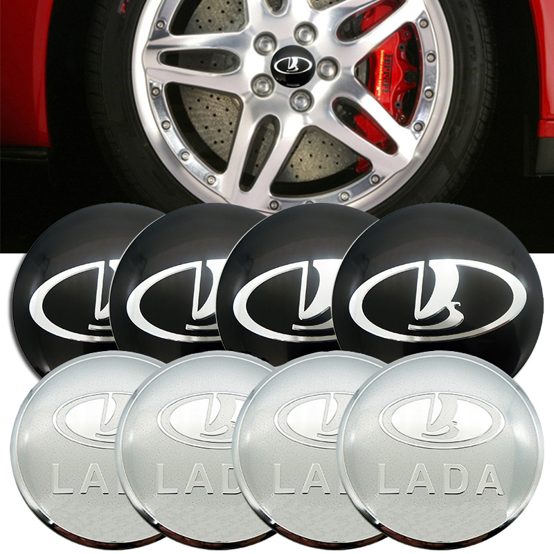 For <font><b>Lada</b></font> Granta Vesta Xray Kalina Priora Largus Samara Niva 2101 2106 2107 <font><b>2109</b></font> 2110 Wheel Rim Center Caps Badge Exterior Auto image