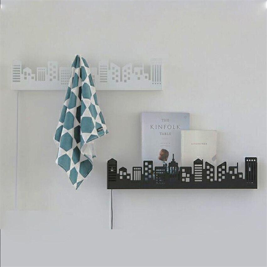 cidade moderna conduziu lampada parede 02
