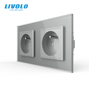 Image 4 - LIVOLO 16A French Standard, Wall Electric / Power Double Socket / Plug, Crystal Glass Panel,C7C2FR 11/12/13/15, no logo