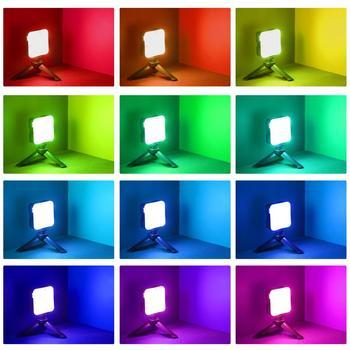 TELESIN Mini RGB LED Video Light 2000mAh Portable Pocket Photographic Lighting Vlog Fill Light Smartphone DSLR SLR Lamp 12