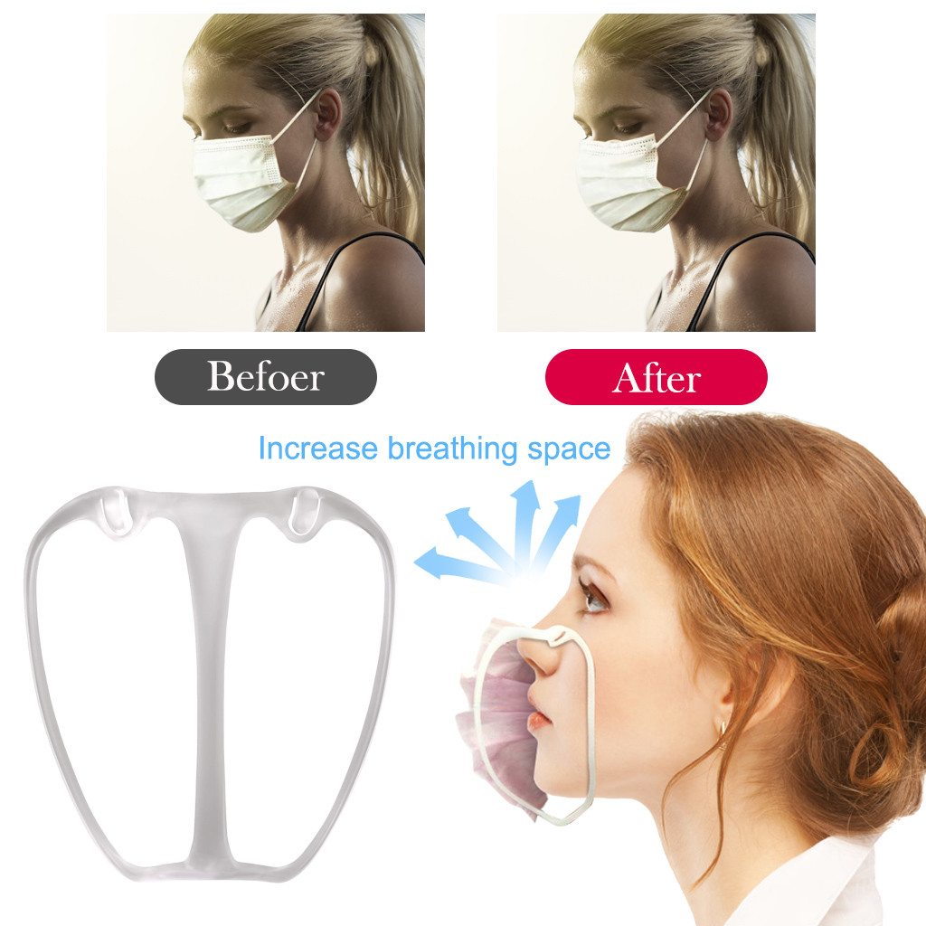 1/5/10pcs 3D Mask Bracket Mask Accessories Breathing Smoothly And Cool Silicone Mask Holder Breathable Accessories(China)