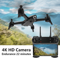 LOOZYKIT SG907 GPS with 4K HD Dual Camera Wide Angle 5G WIFI FPV RC Quadcopter Foldable Drones Professional GPS Me