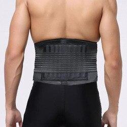 Регулируемый пояс для поддержки поясницы, двойной Поясничный пояс для облегчения боли в спине, магнитная терапия, поясная поддержка для спо...