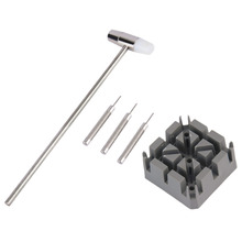 5pcs/set Watch Repair Band Link Remover Tool Kit Hammer Punch Pins Strap Holder цена и фото
