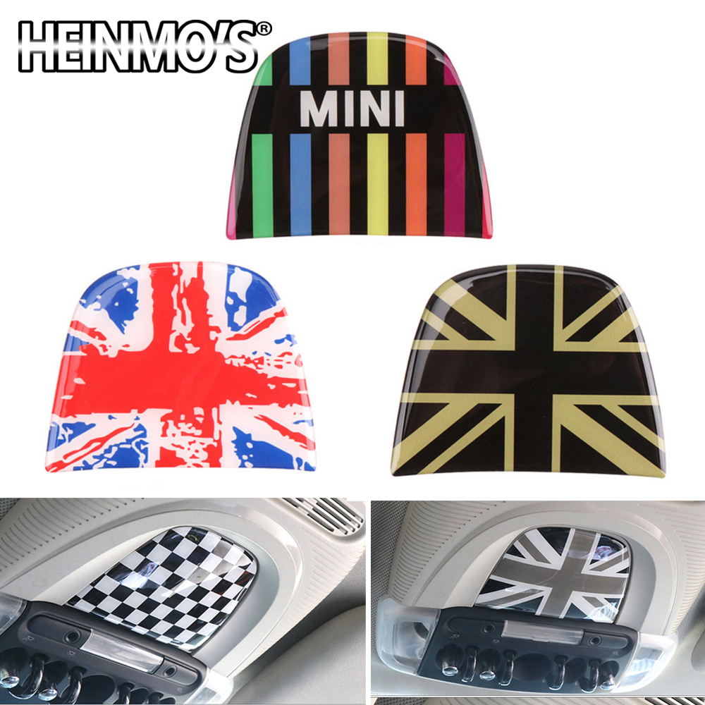 Car Decoration Styling Accessories For Mini Cooper Clubman Countryman F54 F55 F56 F60 Car Roof Reading Light Lamp Sticker Cover