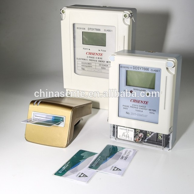 china supplier for DDSY7666 electronic watt-hour single phase prepaid electric meter