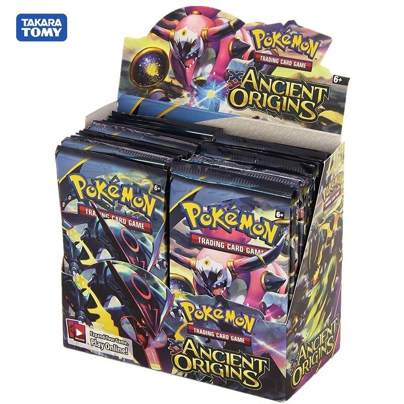 Pokemon negociação cartão jogo xy origens antigas exibir caixa de reforço com ex cartões
