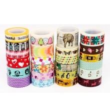 24 дизайна букв/полос/кружева/пятна/цветочный узор японский васи лента декоративная клейкая DIY маскирующая бумага лента наклейки этикетки