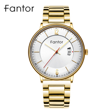 Fantor Brand Man Luxury Quartz Wristwatches Mens Casual Classic Waterproof Date Stainless Steel Watch for Men multifunction man watch waterproof biden sport mens digital quartz wristwatches genuine leather stainless steel citizen movement