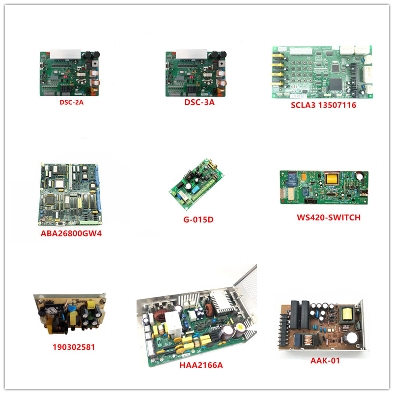 DSC-2A| DSC-3A| SCLA3 13507116| ABA26800GW4| G-015D| WS420-SWITCH| 190302581| SD200506| HAA2166A| AAK-01 Used
